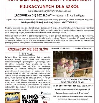 Konferencja natemat programów edukacyjnych dla szkół 8.06 godz.16:00