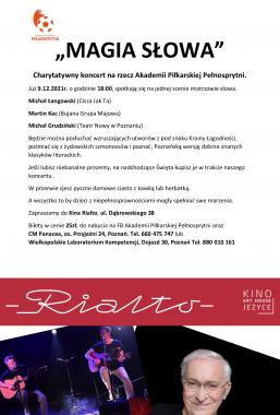 MAGIA SŁOWA – koncert charytatywny – 2021-12-09 18:00:00