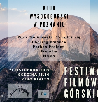 Przegląd filmów górskich – 21.11 godz.18:30